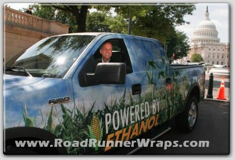 Wednesday, May 17, 2006- Representative Jerry Moran (R- Kansas) sits in a Ford F-150 Ethanol E-85 powered pickup truck as part of a U.S. Capitol event supporting bipartisan legislation to expand renewable fuel infrastructure and fuel availability for flex fuel vehicles in Washington, D.C., USA. (05/17/06)